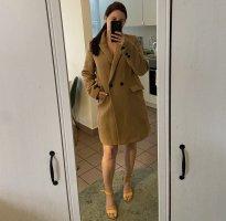 Zara Płaszcz zimowy brązowy