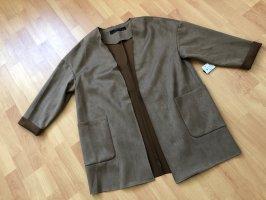 Zara Basic Short Coat bronze-colored
