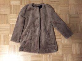 Zara Płaszcz ze sztucznym futrem Wielokolorowy