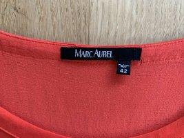 Marc Aurel Blusen Shirt Top Gr 42 Orange Viskose