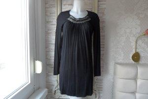 Marc Aurel Kleid   Gr. 36  Schwarz mit Schmuck steine Luxus Pur