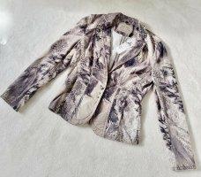 Marc Cain Boyfriend Blazer bronze-colored-silver-colored cotton