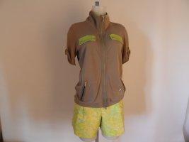 Marc Cain Jersey Blazer beige-lime-green cotton