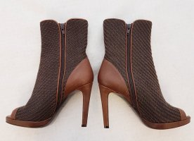 Marc Cain Peep Toe Booties brown-cognac-coloured leather