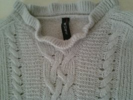 Marc Cain Wool Sweater light grey cashmere