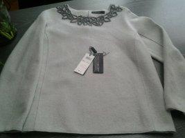 Marc Cain Wool Sweater light grey wool