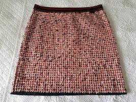 Marc Cain Jupe tricotée noir-rouge brique