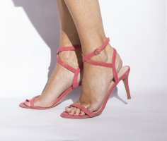 Marc Cain Strapped Sandals raspberry-red leather