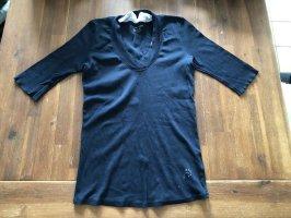 Marc Cain Ribbed Shirt black-dark blue