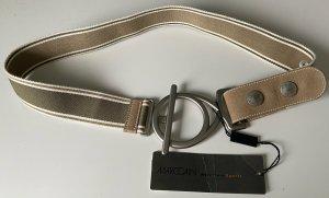 marc cain sports Pasek materiałowy khaki-kremowy
