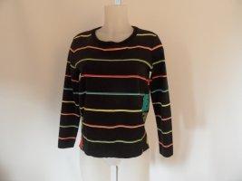 MARC CAIN Sweatshirt schwarz Gr. 2 / 38 Schriftzug gedruckt Casual-Look
