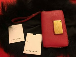 Marc Jacobs Wallet neon red-magenta leather