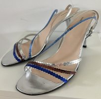 Marc Jacobs Strapped High-Heeled Sandals silver-colored leather