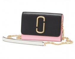 Marc Jacobs Crossbody bag black-pink leather