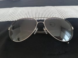 Marc Jacobs Oval Sunglasses black-silver-colored