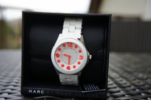 Marc Jacobs Orologio bianco-arancione