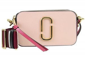 Marc Jacobs Gekruiste tas stoffig roze-violet Leer