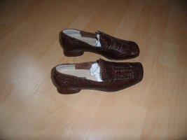 Marc O`Polo ° bequeme Halbschuhe Gr 40 Braun  Leder Damen Schuhe Slipper Mokkasins