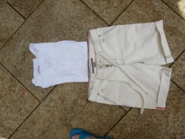 Marc O'Polo Bermudy w kolorze białej wełny