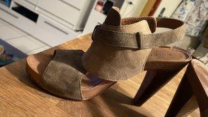 Marc O'Polo Platform High-Heeled Sandal light brown-beige