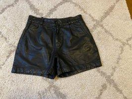 Marc O'Polo Pantalón de cuero negro Cuero