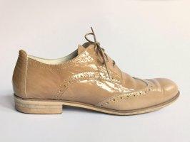 Marc O'Polo Chaussures à lacets marron clair-beige cuir