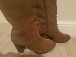 Marc O'Polo Platform Boots taupe-dusky pink leather