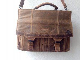 Picard Briefcase light brown-bronze-colored leather