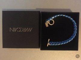 MarcCain Damen Armband neu blau Silber