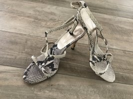Marc Cain Strapped High-Heeled Sandals black-natural white leather