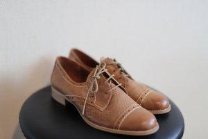 Marco Tozzi Zapatos estilo Oxford naranja claro Cuero
