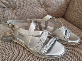 Marco Tozzi dandalen neu gr. 38 silber sandaletten riemchensandalen metallic strass