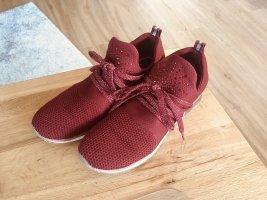 Marco tozzi sneaker turnschuhe in weinrot 40