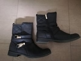 Marco Tozzi Slouch Booties black-gold-colored