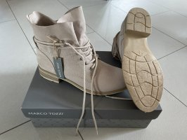 Marco Tozzi Lace-up Booties beige