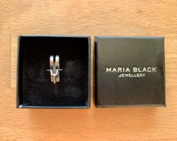 Maria Black Silver Earrings silver-colored metal