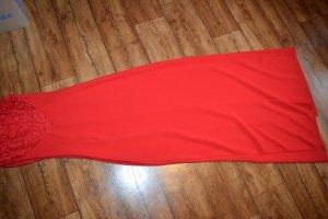 Marie Blanc Abendkleid mit Einsätzen aus Spitze - Rot Neu 36