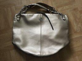 Marina Galanti Handtasche, Shopper gold Nieten