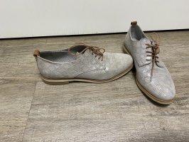 Maripe Halbschuhe Schnürschuhe echt Leder metallic Gr. 37 Np 135€