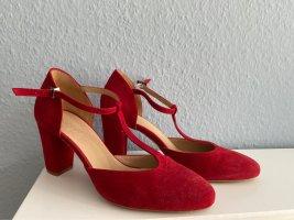 Kämpgen Mary Jane Pumps dark red leather