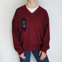 maselli rot 54 Jacke Cardigan Strickjacke Oversize Pullover Hoodie Pulli Sweater Top True Vintage