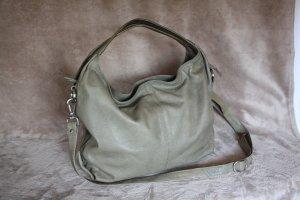 Masquenada Sac hobo gris brun cuir