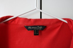 Massimo Dutti Long Sleeve Blouse red