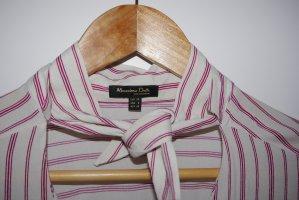 Massimo Dutti Tie-neck Blouse multicolored viscose