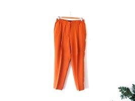 Massimo Dutti Bundfaltenhose Chino Anzughose Gr. L 42 40 Chino orange highwaist