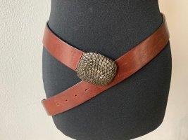 Massimo Dutti Hebilla del cinturón marrón