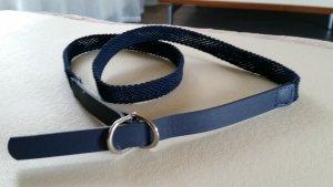 Stoffen riem donkerblauw