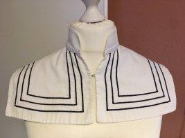 Maßgeschneidert Cols de blouses blanc-bleu foncé coton