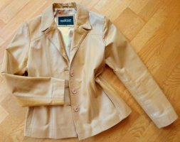 Mauritius Leather Jacket sand brown leather