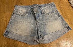 Mavi Pantalón corto de tela vaquera azul claro